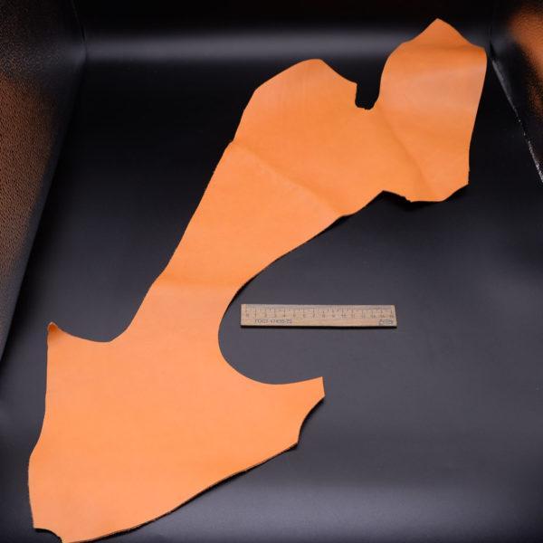 Кожа КРС, оранжевая, 14 дм2.-1-121