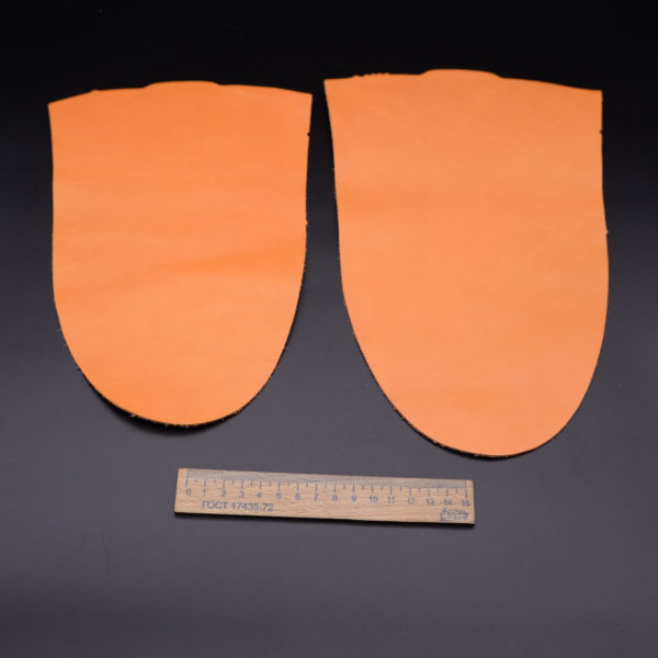 Кожа КРС, оранжевая, 9 дм2.-1-122