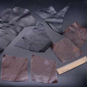 Кожа КРС, черная и коричневая, 13 дм2.-1-183