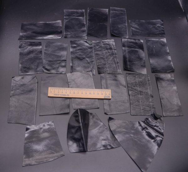 Кожа КРС, черная, 14 дм2.-1-184