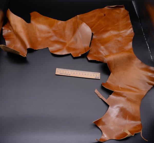 Кожа КРС, эффект пулап (Pull-Up), светло-коричневая, 19 дм2.-1-187