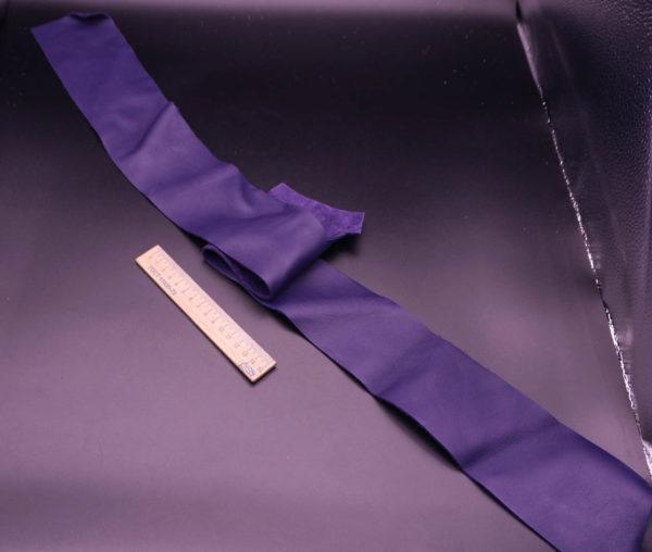 Кожа КРС, фиолетовая, 8 дм2.-1-221