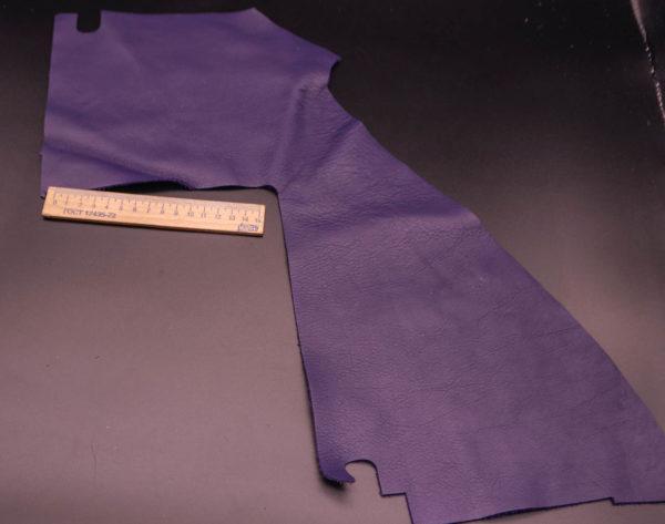 Кожа КРС, фиолетовая, 10 дм2.-1-222