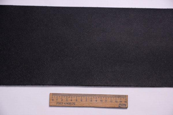 Кожа КРС, сафьяно (Saffiano), черная, 17 дм2.-1-259
