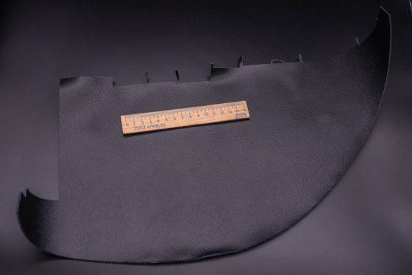Кожа КРС, сафьяно (Saffiano), черная, 8 дм2.-1-261