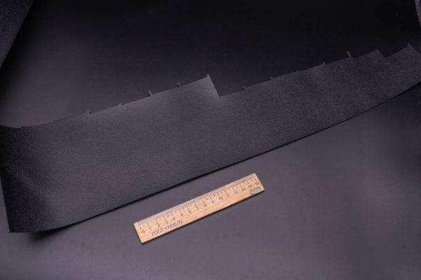 Кожа КРС, сафьяно (Saffiano), черная, 8 дм2.-1-263