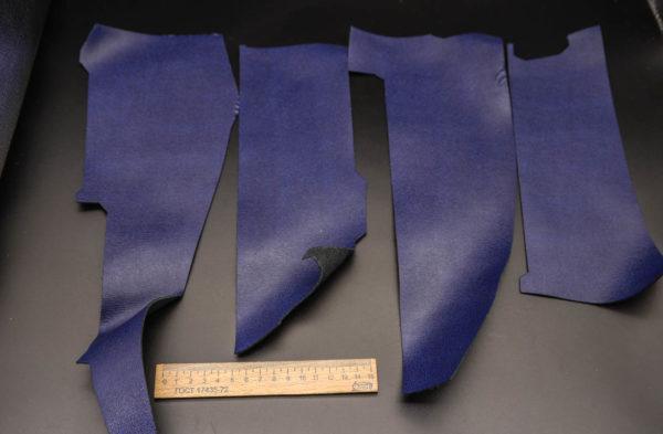 Кожа КРС, сафьяно (Saffiano), синяя, 13 дм2.-1-266