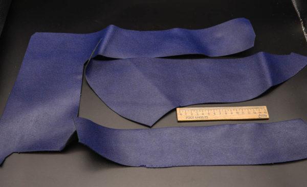 Кожа КРС, сафьяно (Saffiano), синяя, 13 дм2.-1-267