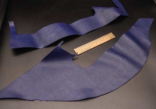 Кожа КРС, сафьяно (Saffiano), синяя, 11 дм2.-1-269
