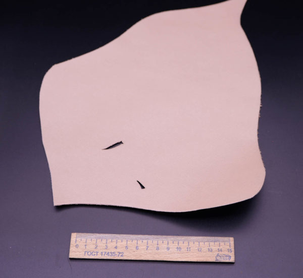 Кожа КРС, сафьяно (Saffiano), бежево-розовая, 7 дм2.-1-277