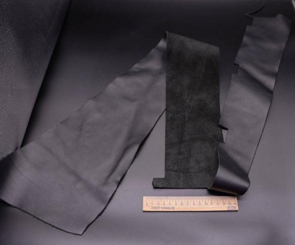 Кожа КРС, черная, 19 дм2.-1-341