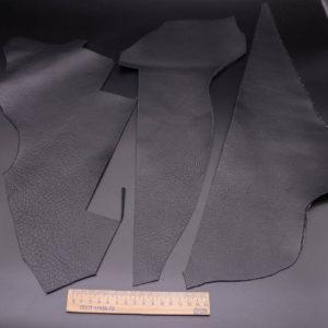 Кожа КРС двухсторонняя, черная, 14 дм2.-1-342