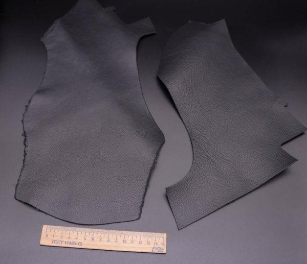Кожа КРС двухсторонняя, черная, 13 дм2.-1-343