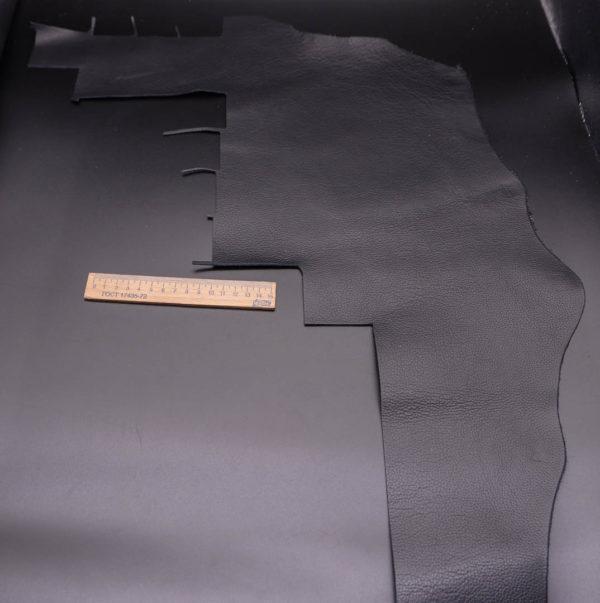 Кожа КРС двухсторонняя, черная, 15 дм2.-1-345