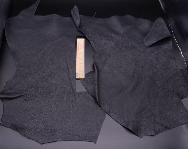 Кожа КРС, черная, 24 дм2.-1-356