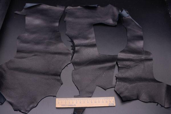 Кожа КРС, черная, 15 дм2.-1-371