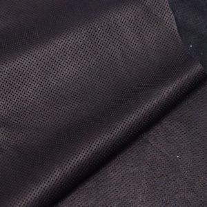 Кожа КРС с перфорацией, черная, 97 дм2.-AB1-64