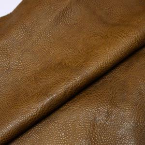 Кожа КРС с тиснением, светло-коричневая, 145 дм2.-AB1-69
