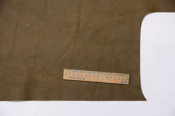 Кожа КРС, хаки, 121 дм2.-AB1-81