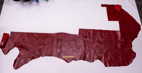 Кожа КРС, темно-красная, 113 дм2.-AB1-82