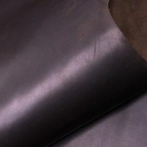 Кожа КРС крейзи хорс (Crazy Horse) с эффектом пул ап (Pull Up), темно-коричневая, 138 дм2.-D1-14