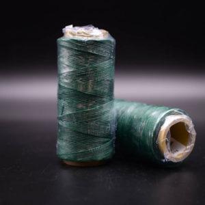 Нить мокасин вощенная, тёмно-зелёная (green 275)