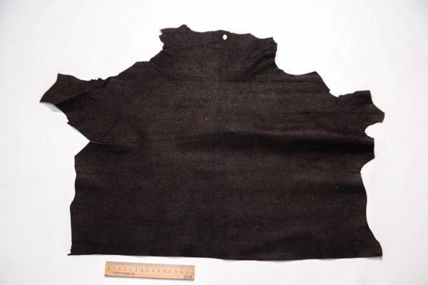 Велюр МРС с тиснением, темно-коричневый, 23 дм2.-109268
