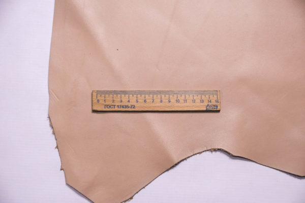 Кожа МРС, бежево-розовая, 34 дм2.-109276