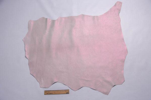 Кожа МРС, розовый перламутр, 37 дм2, Russo di Casandrino S.p.A.-109289