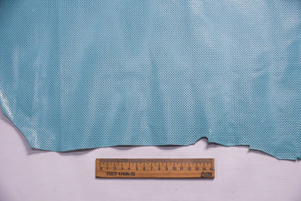 Кожа МРС с перфорацией, голубая, 51 дм2 -109291