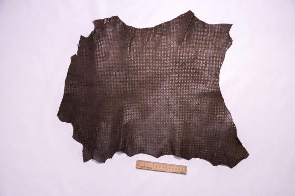 Велюр МРС (коза) с принтом, темно-коричневый, 26 дм2 -109295