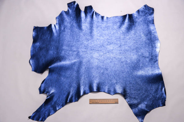 Кожа козы, синий металлик, 47 дм2, Falco Pellami S.p.A. -109321