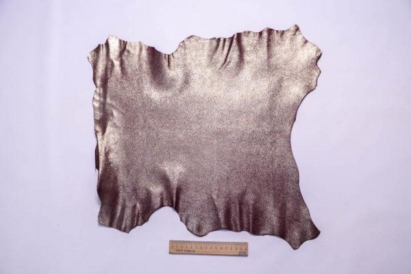 Велюр МРС (коза) с напылением, бордовый, 21 дм2, Conceria Stefania S. p. A. -109335