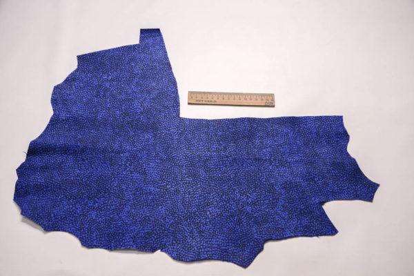 Велюр МРС с принтом, синий, 17 дм2. -109342