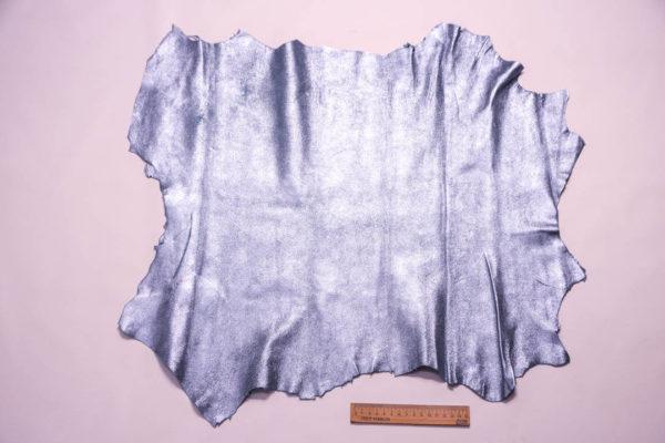 Велюр МРС с напылением, голубой металлик, 35 дм2. -109347