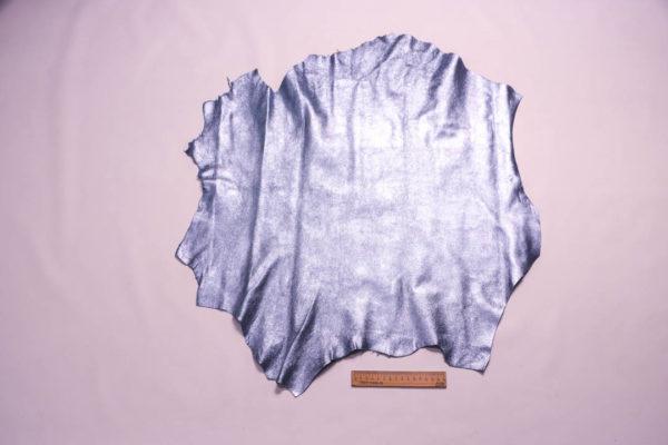 Велюр МРС с напылением, голубой металлик, 38 дм2. -109348