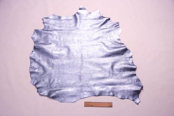 Велюр МРС с напылением, голубой металлик, 35 дм2. -109349