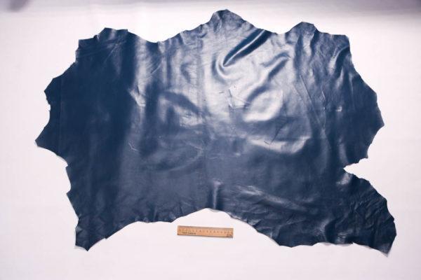 Кожа одёжная МРС, синяя, 7,75 фут. (72 дм2)-200090