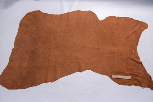 Кожподклад свиной (спилок), виски, 8,75 фут (81 дм2).-401060