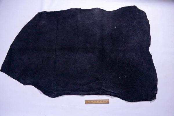 Кожподклад свиной (спилок), чёрный, 72 дм2.-401063