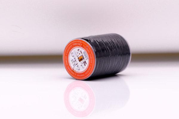 """Нить """"GALACES"""" вощеная круглая 0,35 мм. Черная-s999"""