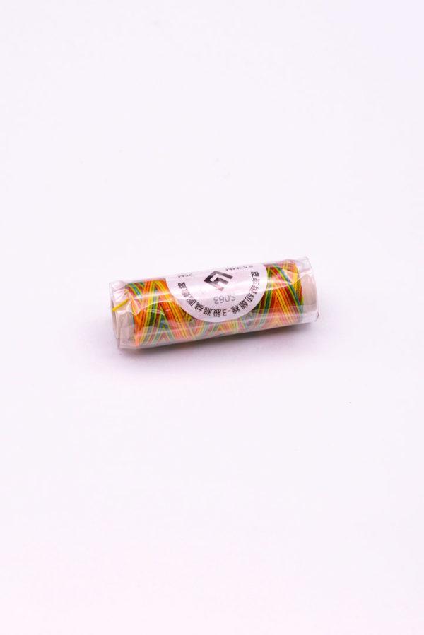 """Нитка """"GALACES"""" воскована кругла 0,55 мм. Мультиколір-s063"""