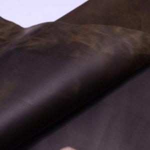 Кожа КРС крейзи хорс (Crazy Horse) с эффектом пул ап (Pull Up), оливковая, 161 дм2.-D1-33