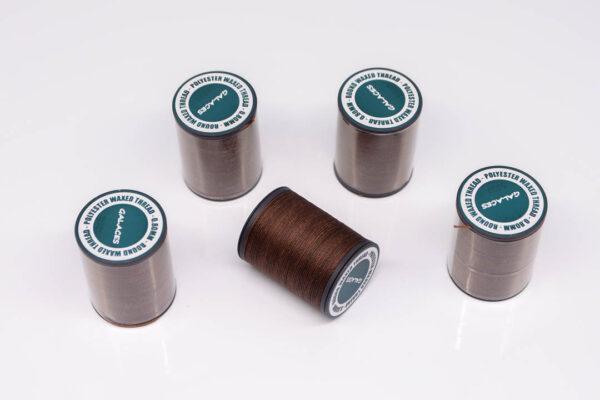 """Нить """"GALACES"""" вощеная круглая 0,8 мм. Темно-коричневая-s020"""