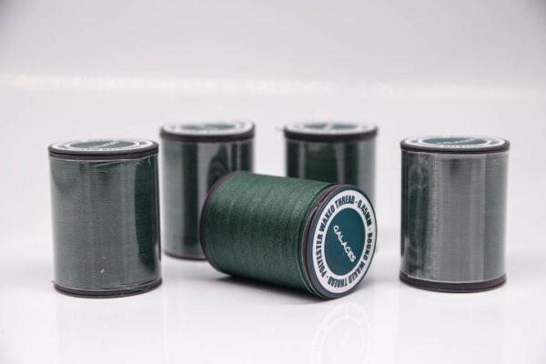 """Нить """"GALACES"""" вощеная круглая 0,45 мм. Темно-зеленая-s078"""