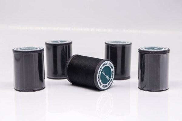 """Нить """"GALACES"""" вощеная круглая 0,65 мм. Черная-s999"""