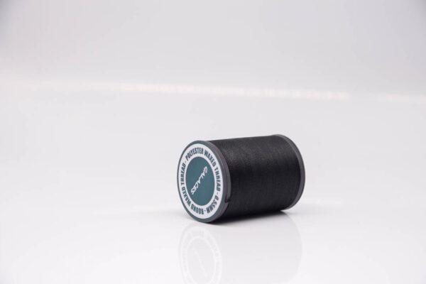 """Нить """"GALACES"""" вощеная круглая 0,55 мм. Черная-s999"""