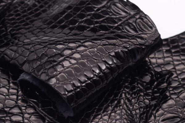 Кожа крокодила, черная- kr-100