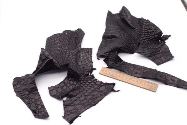 Кожа крокодила, черная- kr-103