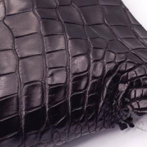 Кожа крокодила, черная- kr-109